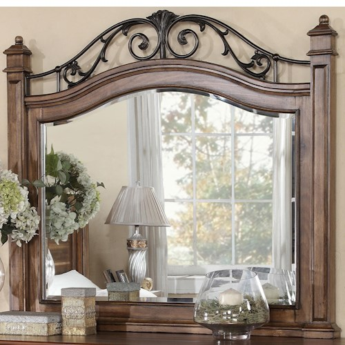 Vendor 1356 Barclay Mirror with Metal Detail