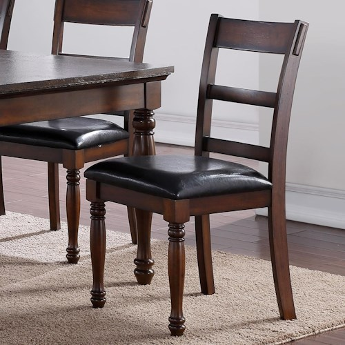 Vendor 1356 Breckenridge Breckenridge Side Chair with Upholstered Seat
