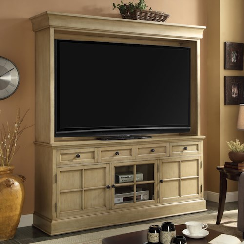 Vendor 1356 Bristol Collection TV Console and Hutch with Rear Cord Management