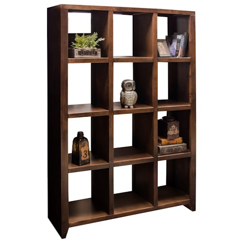 Vendor 1356 Brownstone Collection Brownstone Room Divider with 12 Shelves