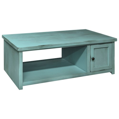 Legends Furniture Calistoga Collection Calistoga Coffee Table with Shelf