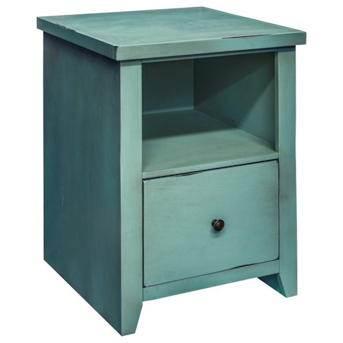 Vendor 1356 Calistoga Collection Calistoga Blue File Cabinet