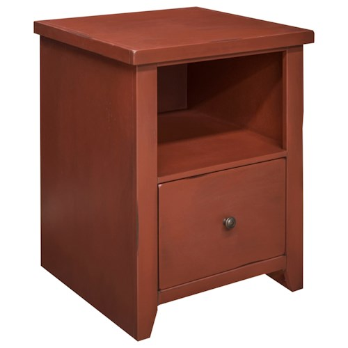 Legends Furniture Calistoga Collection Calistoga Blue File Cabinet