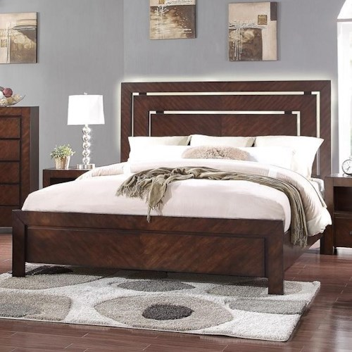 Vendor 1356 City Lights Queen Panel Bed