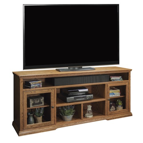 Legends Furniture Colonial Place Two-Door 74-Inch Tall TV Cart