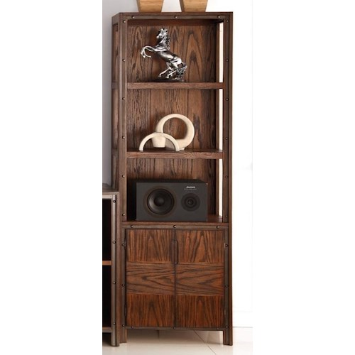Legends Furniture Crossgrain Collection Bookcase Pier with Three Shelves