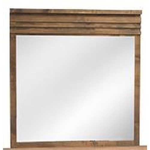 Legends Furniture Glendale Collection Dresser Mirror with Detailed Top