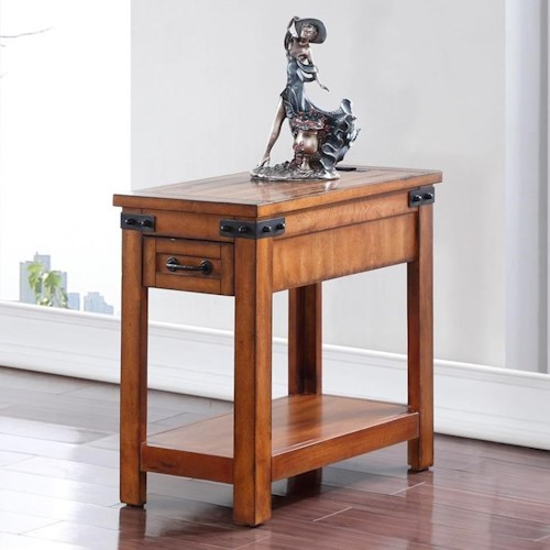 Legends Furniture Industrial Collection Industrial SideTable