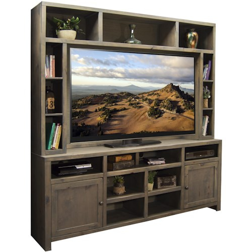 Legends Furniture Joshua Creek Entertainment Unit with 2 Doors and 17 Shelves