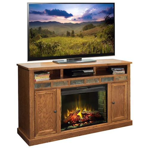 Legends Furniture Oak Creek 62 Inch Fireplace Media Center