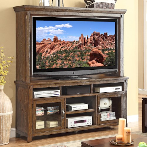 Legends Furniture Restoration Rustic Casual TV Console and Hutch