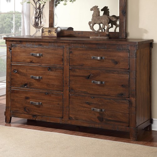 Legends Furniture Restoration Rustic Restoration 6 Drawer Dresser