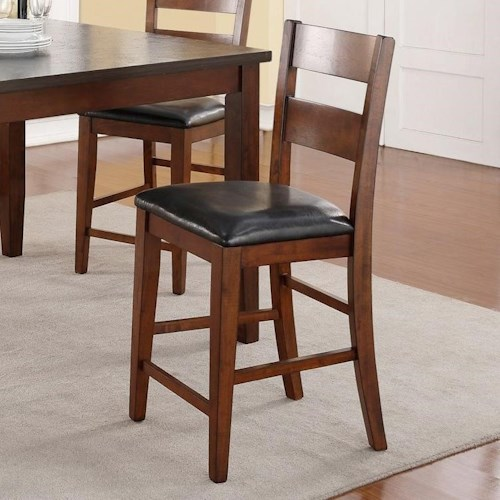 Vendor 1356 Rockport Counter Height Stool with Upholstered Seat