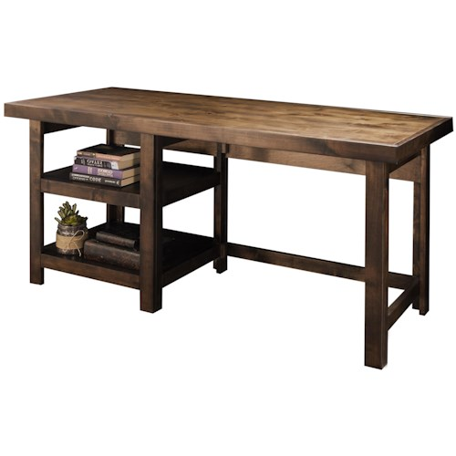 Legends Furniture Sausalito Collection Workstation with Two Open Shelves