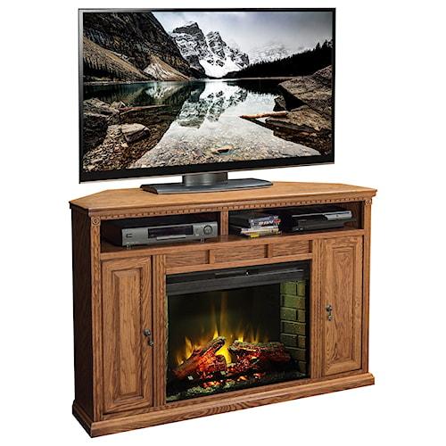 Legends Furniture Scottsdale 56 Inch Corner Fireplace Media Center