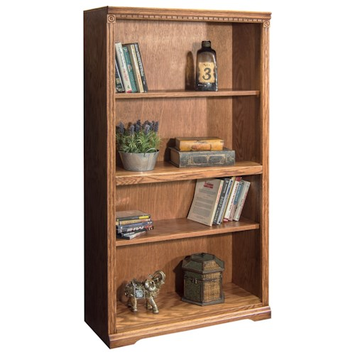 Legends Furniture Scottsdale Bookcase with One Fixed and Two Adjustable Shelves