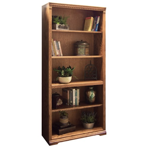 Legends Furniture Scottsdale Bookcase with One Fixed and Three Adjustable Shelves