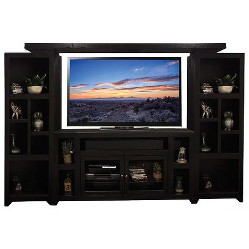 Legends Furniture Skyline Entertainment Unit with Bookcases