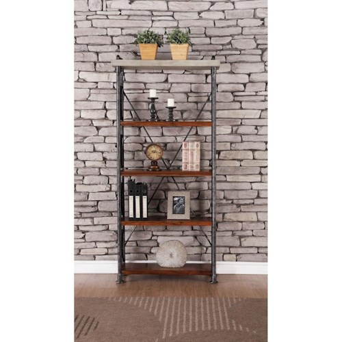 Vendor 1356 Steampunk Collection Steampunk Bookcase with Four Shelves