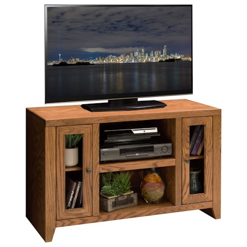 Legends Furniture City Loft 42 inch TV Cart with Six Shelves