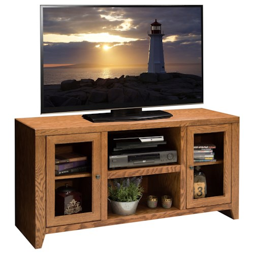 Vendor 1356 City Loft 52 inch TV Console with Six Shelves
