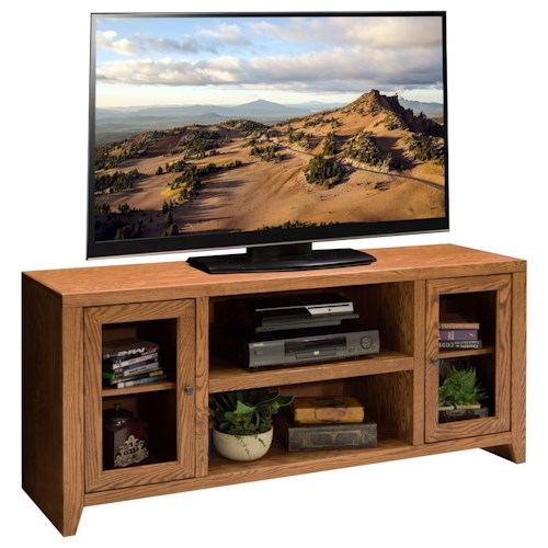 Legends Furniture City Loft 60 inch TV Console with Six Shelves
