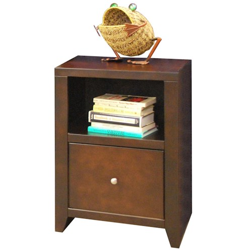 Legends Furniture Urban Loft One Drawer File with Shelf