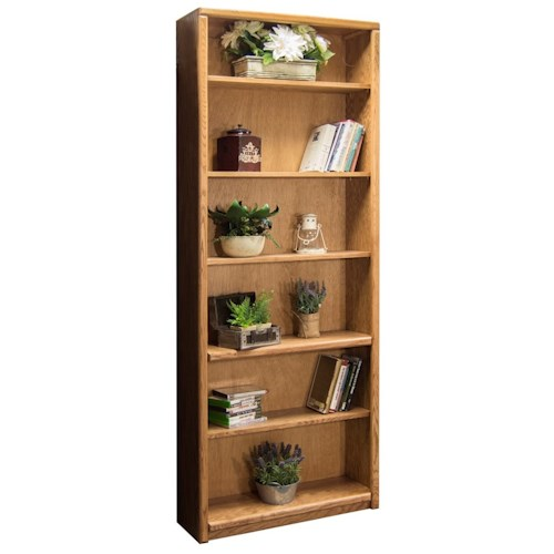 Vendor 1356 Contemporary - Value Groups Bookcase With One Fixed and Four Adjustable Shelves
