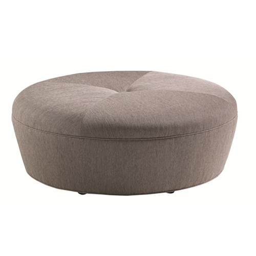 Lexington Carrera Claudia Round Cocktail Ottoman with Button Tuft Detailing