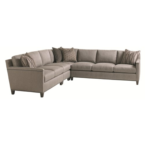 Lexington Carrera Strada Four Piece Sectional Sofa with Nailhead Trim