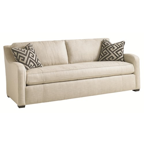 Lexington Carrera Fontana Contemporary Sofa with Bench Seat