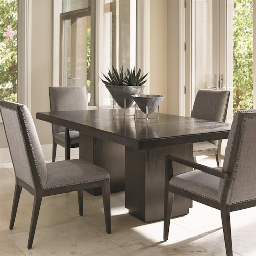 Lexington Carrera Modena Five Piece Dining Set with Customizable Chairs