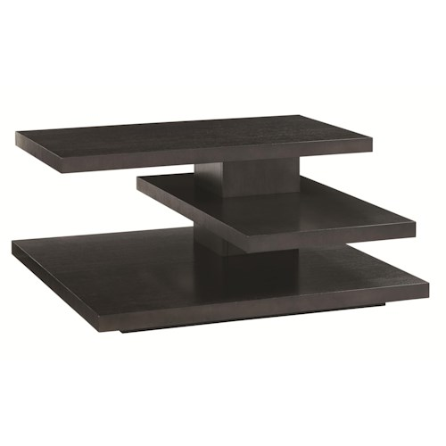 Lexington Carrera Evora Square Cocktail Table with Cantilever Shelves