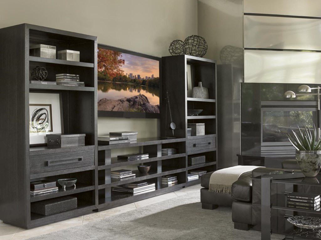 Shown with Rossa Bookcase to Form Entertainment Wall