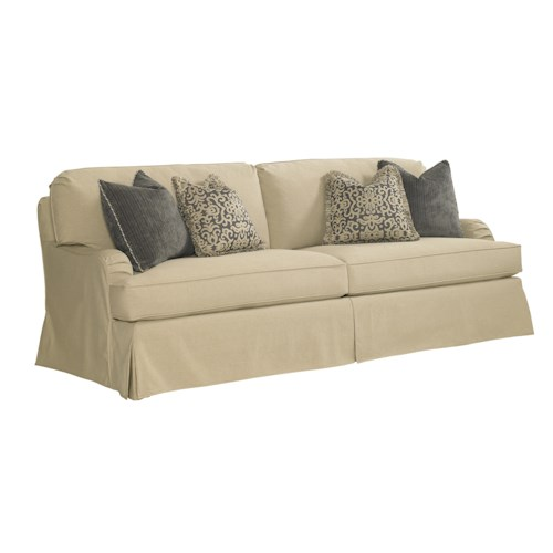 Lexington Coventry Hills Stowe Slipcover Sofa with English Arms