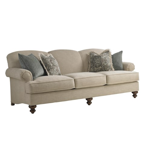 Lexington Coventry Hills Asbury Sofa with Rolled Arms and Tight Back