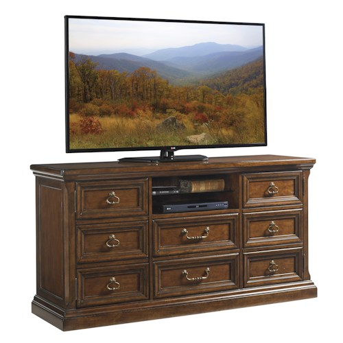 Lexington Coventry Hills Provincetown Media Console with Wire Management Grommets