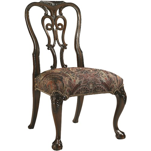 Lexington Henry Link Trading Co Oxford Square Queen Anne Dining Side Chair with Ball-and-Claw Feet in Sable Finish