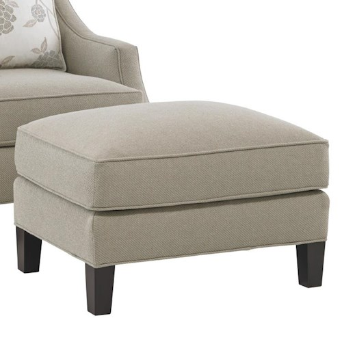 Lexington Kensington Place Transitional Pendleton Ottoman