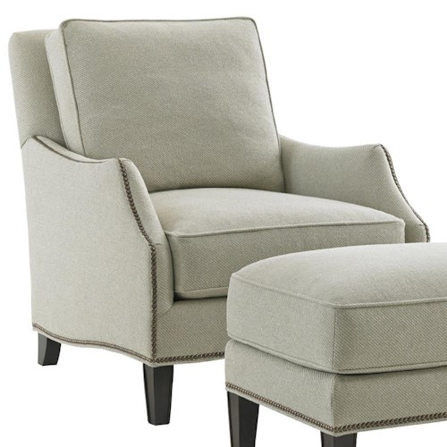 Lexington Kensington Place Transitional Ashton Chair with Flared Arms and Nailheads