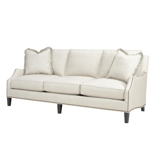 Lexington Kensington Place Transitional Ashton Sofa with Flared Arms and Nailheads