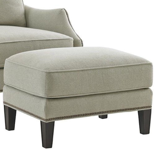 Lexington Kensington Place Transitional Ashton Ottoman with Nailheads