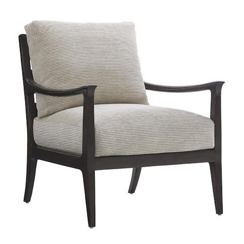 Lexington LAUREL CANYON Miramar Exposed Wood Accent Chair
