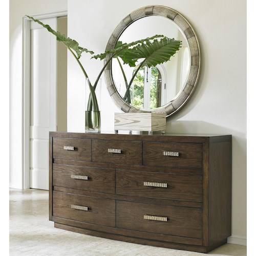 Lexington LAUREL CANYON Radcliffe Dresser and Beverly Mirror Set