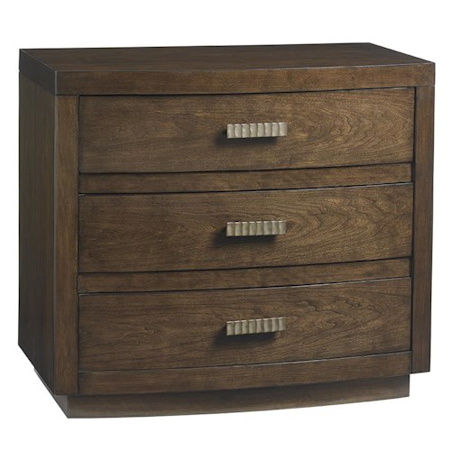 Lexington LAUREL CANYON Verdes Nightstand with Textured Modern Hardware