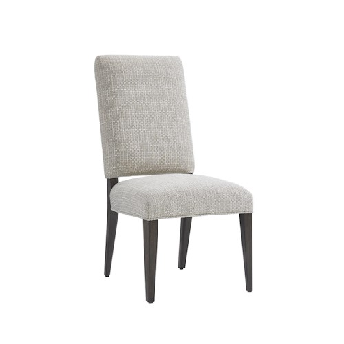 Lexington LAUREL CANYON Sierra Dining Side Chair in Medino Ivory Fabric