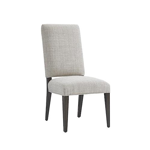 Lexington LAUREL CANYON Sierra Dining Side Chair in Medino Ivory Fabric