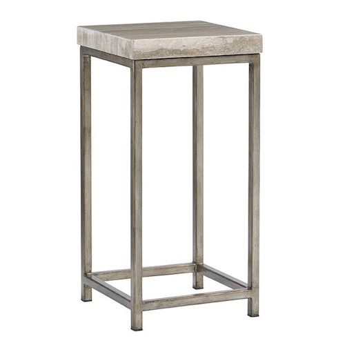 Lexington LAUREL CANYON Ashcroft Accent Table with Silver Travertine Top