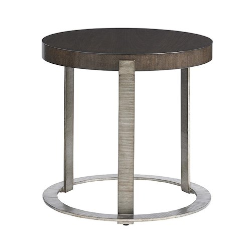 Lexington LAUREL CANYON Wetherly Accent Table with Mahogany Top