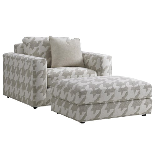 Lexington LAUREL CANYON Bellevue Oversized Chair and Ottoman Set